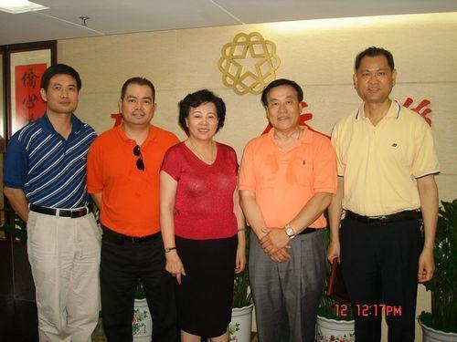 美国深圳联谊会会长一行拜访广东省侨联(图)