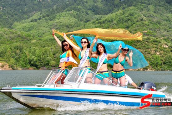 国际旅游小姐大赛山西选手走进方山北武当山、南阳沟(图)