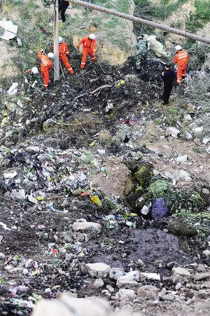 兰州:垃圾突然坍塌拾荒男子被埋(图)