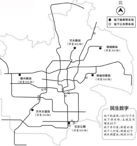 地铁站边将建2500个地下换乘车位(图)