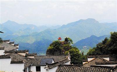 美丽悬崖建在齐云山村庄非常恩爱动画的表情包上(图)图片