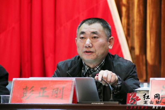 龙山县委书记彭正刚.