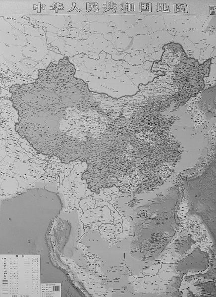 中国竖版地图发行