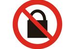 """""""禁止锁闭""""标志"""