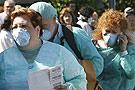 西班牙接受猪流感检查的人