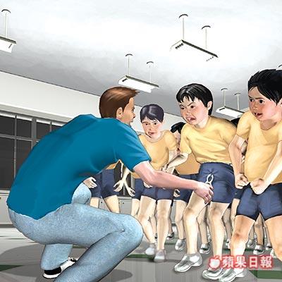 台湾小学生被女生变态碰到(图)体罚教练骂男生图片