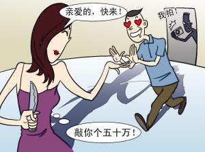 百万富翁与卖淫女开房被拍裸照洗劫