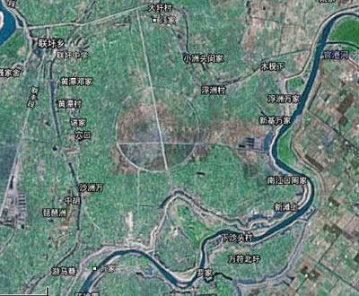 南昌卫星地图怪圈原系鱼塘马场(图)