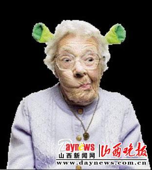"""""""疯狂外婆""""走红网络(图)"""