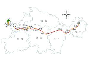 建材老板冒雪骑车14天从重庆回浙江(组图)