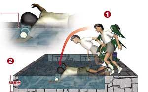 七岁男孩在步行街喷泉池中被淹死(组图)