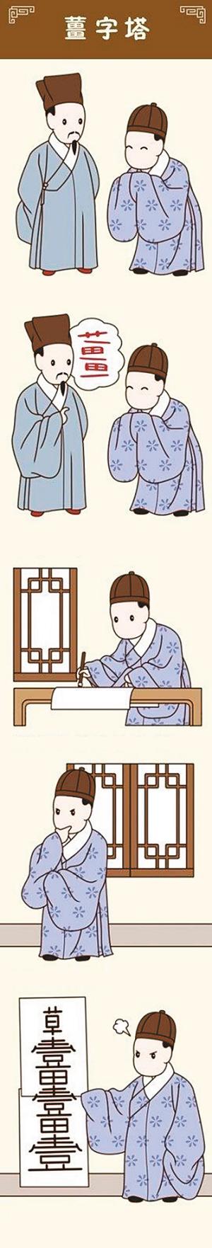 古代冷笑话漫画热传 网友称没点文化看不懂(图)