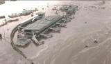 海水倒灌淹没仙台机场