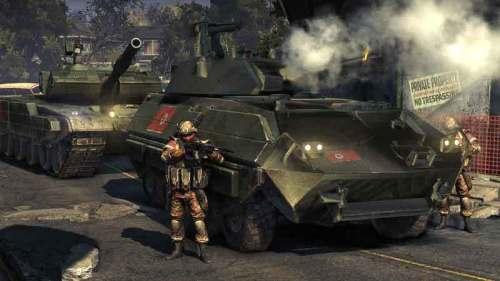 步兵配合坦克装甲部队推进