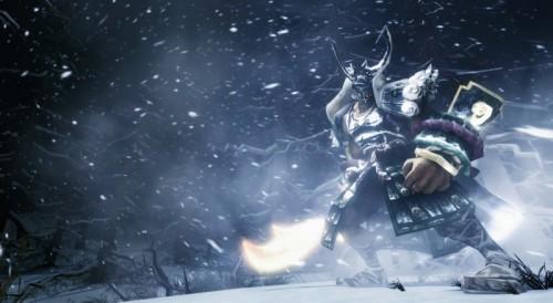 暴雪中的战士