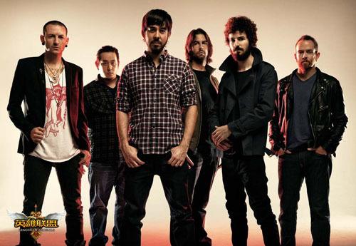 图4:Linkin Park成员合影