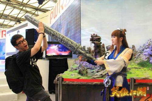 图2:谁能举起巨剑,谁就离首测资格更近一步
