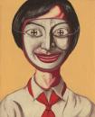 曾梵志作品欣赏-面具系列