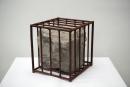 隋建国作品:Untitled(1990)40×40×40cm stone and iron cage