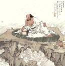 高云作品《十八罗汉之芭蕉罗汉》68x68
