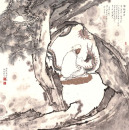 高云作品《十八罗汉之降龙罗汉》68x68