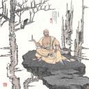 高云作品《十八罗汉之托塔罗汉》68x68