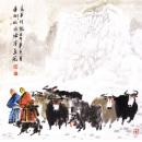 高原行旅 2003年 纸本 68cmx68cm 纪连彬