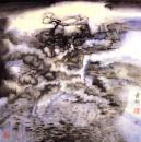 梦中的风景 2001年 纸本 68cmx68cm 纪连彬