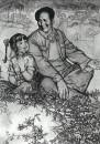房东的女儿(素描) 130cm×100cm 1982年