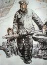 老红军 130cm×100cm 1987年