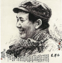 毛泽东 100cm×100cm 2001年