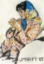 陕北姑娘 69.5cm×45.5cm 1983年
