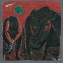 1985年 《潮・向大海忏悔》 油画 120x120cm