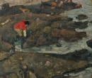 1977年 《赶海习作》 油画