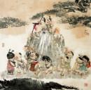 寿星与顽童 1996年-傅小石