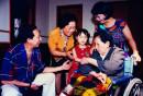 傅小石母亲和小石一家三代人