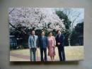 傅小石夫妇1992年4月与友在日本摄于樱花树下