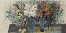 《春艳怡人之二》彩墨2012年 65cm×136cm