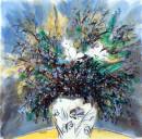 《春光之五》彩墨2012年 65cm×65cm