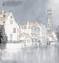 《比利时布努日市政钟楼》