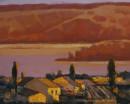 夕阳 2006年布面油画