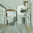 西班牙隆达小镇60x60cm  2008年布面油画