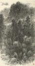 山村雨霁 180×97cm 2012年