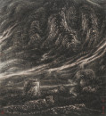 阳关暮�图 166x151cm 1994年