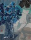蓝花 2016 32x42cm