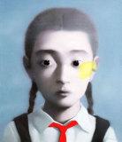 张晓刚作品赏析:《戴红领巾的女孩》