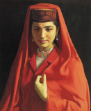 靳尚谊油画:塔吉克新娘