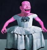 岳敏君作品欣赏 《公主》 1997年作