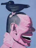 岳敏君作品欣赏 《大笨鸟》 2004年作