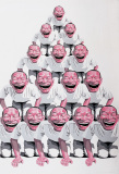 岳敏君作品欣赏 《金字塔》 2001年作